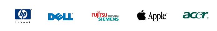 Marche prodotti commercializzati: HP, Toshiba, Fujitsu Siemens, Samsung, Acer, Philips, SonyVaio, Dell, Apple, Benq